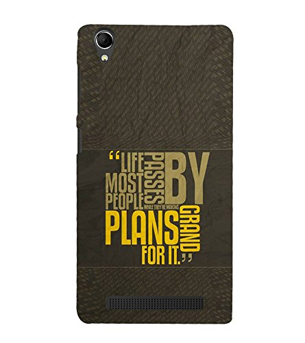 Fuson Designer Back Case Cover for Intex Aqua Power Plus :: Intex Aqua Power + (Life Journey passers by Grand plans People)  available at amazon for Rs.357