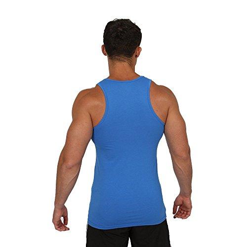 Gymheadz Herren Top, Einfarbig Stahlblau ...
