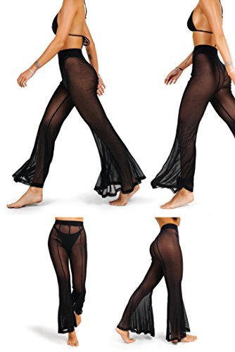 buy popular 09b05 f66cf sofsy Pantaloni Copricostume a Rete da Donna Pantaloni ...