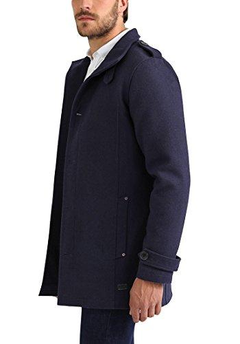 Blend Warren Herren Winter Mantel Wollmantel Lange Winterjacke mit Stehkragen, Größe:S, Farbe:Navy (70230) - 4
