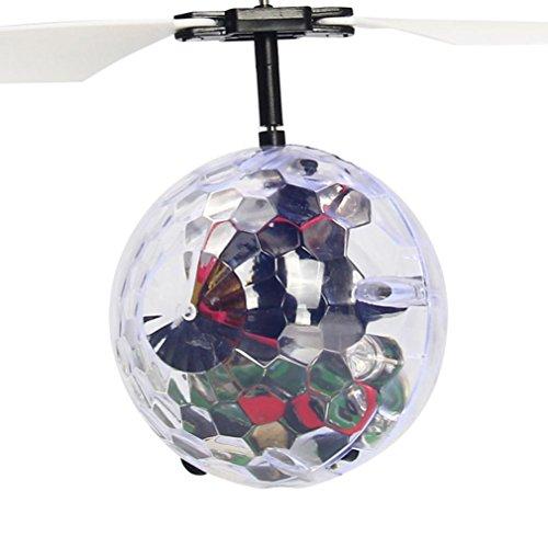 Kingko® RC fliegender Ball, RC Drone Hubschrauber-Kugel mit Disco-Musik-glänzende LED-Beleuchtung eingebaute, besonders bunte fliegende Spielwaren für 8+ Kinder Jugendliche