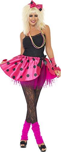 Smiffys, Damen Tutu Set, Tutu, Haarband und Handgelenk Stulpen, Größe: M, (Haarband Erwachsenen Kostüme 80er Jahre)