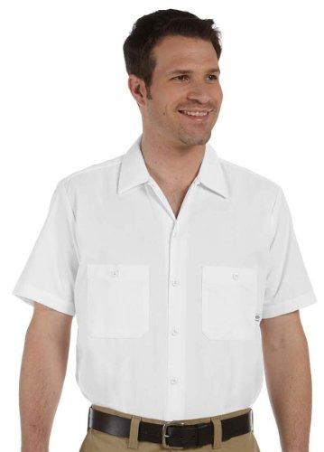 Dickies Veste à manches courtes Chemise de travail Poches avant, blanc, Taille L Blanc - Blanc
