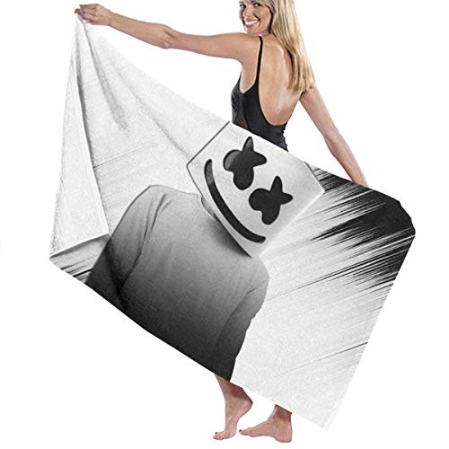 Duyhat Marsh-Mello Pool Beach Towel Luxury Microfiber Bath Towels Quick-Drying Towel Blanket for Travel Swim Pool Yoga Camping Gym Sport