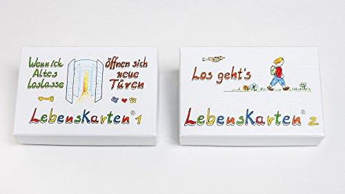 Lebenskarten 1 & 2 im Doppelpack (144 Karten im Visitenkartenformat)