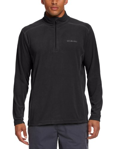 Columbia Klamath Range II Half Zip - Jersey de forro polar para hombre, color negro, talla XXL