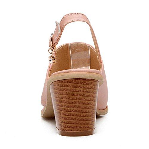 COOLCEPT Damen Mode Slip On Sandalen Blockabsatz Clip Toe Slingback Schuhe Gr Rosa 5QzGapdU
