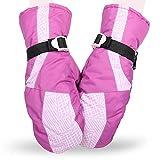 Skihandschuhe, Wanderer Frauen Niedlich Rosa Serie Outdoor Reiten Verdicken Handschuhe, Wasserdicht Winddicht Warme Sporthandschuhe 1 Paar (Farbe : Purple)