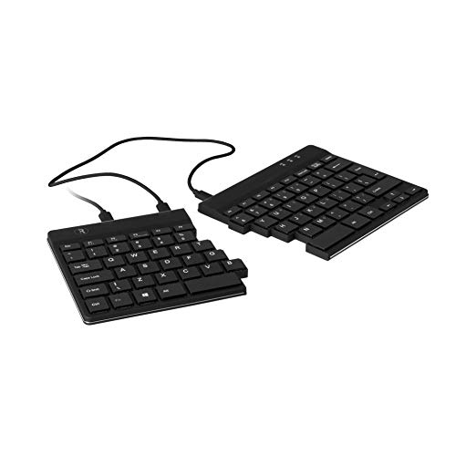 R-Go Tools R-Go Split - Teclado (QWERTY (US), Negro, Cableada, Mini, Wired, USB, QWERTY, Black)