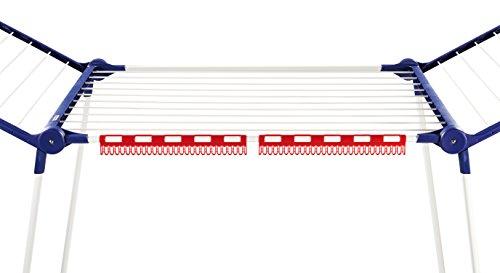Leifheit Pegasus 200 Solid Comfort - Tendedero con alas de plástico, 95x66.5x6 cm, color azul y blan