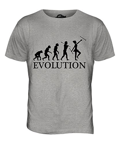 CandyMix Baton Twirling Evolution Des Menschen Herren T Shirt Grau Meliert