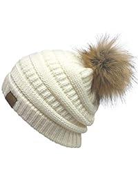 Nvfshreu Gorros Gorro para De Punto Sombrero Mujer Cálido De Invierno  Estilo Simple Moda Simple Ocio 246d78c14be