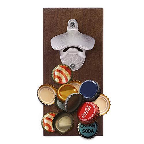 Jeteven Wandflaschenöffner, Magnet Flaschenöffner Wandmontage Bieröffner Wand Bier Bottle Opener für Bar Küchen Deko Männer und Bierliebhaber 20x9x1.2cm(Magnet- Stil)