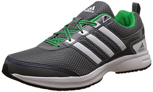 Adidas Men's Ezar 1.0M Vista Grey, White and Solar Lime Running Shoes