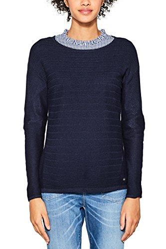 ESPRIT Damen Pullover 087EE1I001, Blau (Navy 400), Small Preisvergleich