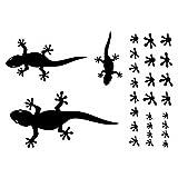plot4u Gecko Aufkleber Creativ-Set in 5 Größen und 25 Farben (32x22cm schwarz)