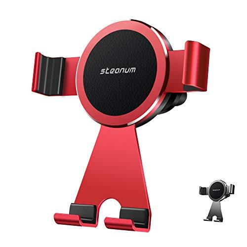 steanum Handyhalterung Auto, Metall Universal Handyhalter 360 Grad Einstellbar Lüftungsschlitz KFZ Halter Kompatibel für iPhoneXs/Xr/X/8/8Plus/7/6,Samsung S9/S8/S7,Note 9/8,Huawei,LG und Mehr- Rot