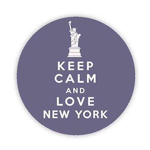 Keep Calm and Love New York KOMPAKT Spiegel bedruckt Bespoke entworfen 58mm Rund Neuheit Make Up Spiegel ideal für Ihre Handtasche. Geschenke Kaboom