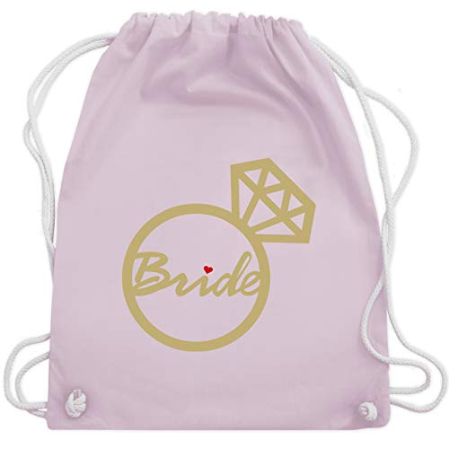JGA Junggesellinnenabschied - Bride - Diamantring - Unisize - Pastell Rosa - WM110 - Turnbeutel & Gym Bag