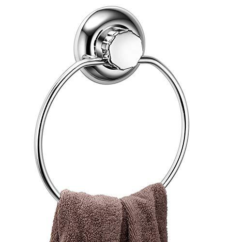 MaxHold système de vide anneau porte-serviette à ventouse - adhérer, pas de perçage - acier inoxydable - pour salle de bains et cuisine