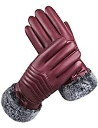 Knitted Gloves Warm Thickening Plus Velvet Windproof Outdoor Riding Cotton Gloves NJ Insulated gloves color : Casual black