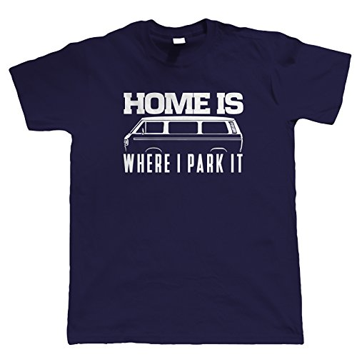 Vectorbomb, Home Is Where I Park It T25 T-Shirt (S zu 5XL) Marineblau