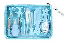 Winthome Baby Pflege-Set, Baby Nagelpflege-Set, Baby Haarpflege-Set, tolles Geschenk, 9-teiliges Set (blau)