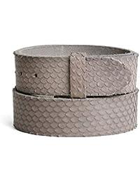 VaModa Ceinture en cuir, Belt, modèle Bamboo taupe, sans boucle 089990052d9