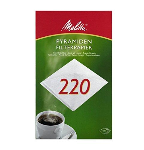 100 x Pyramiden Filterpapier / Kaffeefilter 'Melitta 202' (Weiß)