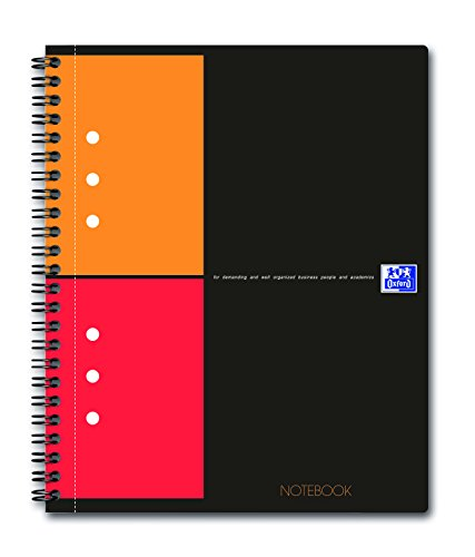 Preisvergleich Produktbild Oxford 100101849 - International Notebook, A5+, kariert, 80 Blatt, Kartondeckel, grau