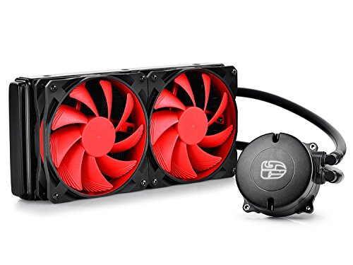DEEPCOOL MAELSTROM240 Watercooling pour CPU Ventilateur de 120mm PWM recouvert de caoutchouc Bionic lumière LED respirer