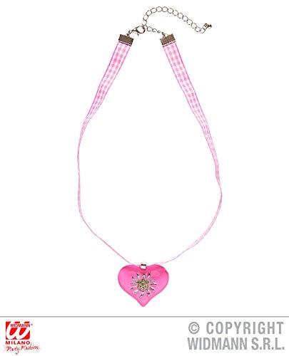 HALSBAND - HERZ - rosa, Trendschmuck Modeschmuck Halsbänder Halsketten