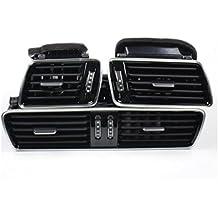 Volkswagen Original Boquilla de ventilación Kit Cromo con LED Iluminación Incl. Juego de cables