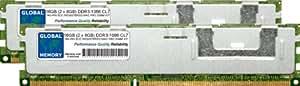 16Go (2x 8Go) DDR31066MHz PC3–8500240-pin ECC enregistré DIMM (RDIMM) Mémoire RAM Kit pour Apple Mac Pro (début 2009–Mid 2010–Mid 2012)