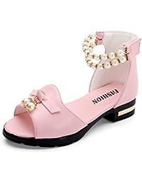 YOGLY Sandalias Para Niñas Sandalias de Princesa Zapatos de Verano Dulce Estilo Diseño con Perla Niña Verano 2018