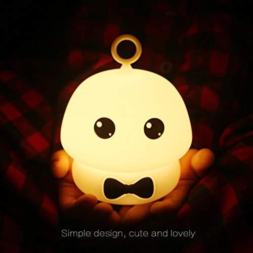 ALIKEEY❤️Moocoo Silicone LED enfants lumière de nuit bande dessinée Baby Nursery lampe veilleuse allaitement veilleuse tactile veilleuse prise electrique veilleuse bebe veilleuse anti moustique veilleuse nomade Veilleuse colorée de champignons de silicone (C)