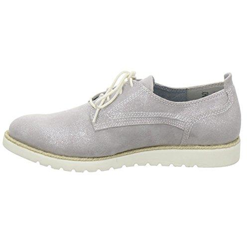 Jana  23609-26-212, Chaussures de ville à lacets pour femme Silber