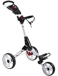 CUBE Carts Golf Trolley 3 Rad Push Leicht - Kompakt - Komfortabel Farbe: White/White