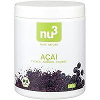 nu3 - Açaï Bio | Poudre 65g | Baies d'açaï d'Amazonie | Superfood bio de qualité obtenue grâce à un séchage délicat | Açaï bio en poudre riche en protéines | Agriculture biologique
