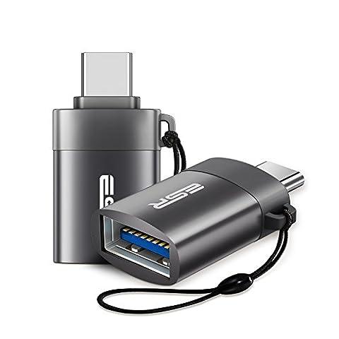 2 Stück ESR USB-C auf USB 3.0 A OTG Adapter, Typ C auf USB 3.0 Typ A OTG für Macbook, Google Nexus 5X / 6P, Note 8, HTC 10, Samsung Galaxy S8, Huawei P10 P9 Mate 9, Switch system