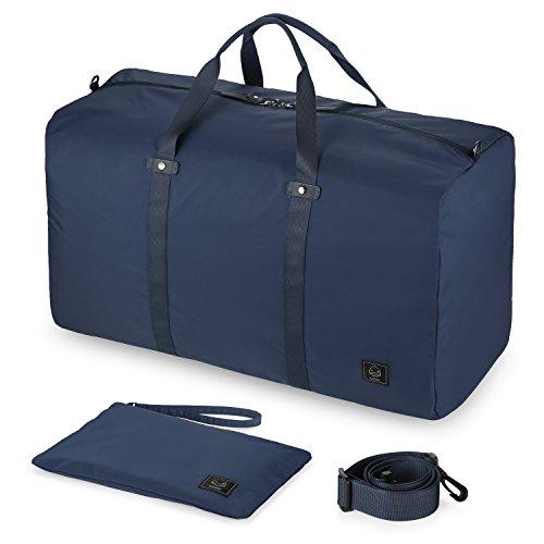 GAGAKU 80L Pieghevole Borsone da Viaggio Impermeabile Borsa da Viaggio Grande Bagaglio per Aereo Cabina Palestra - Blu