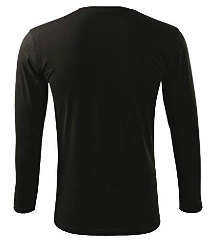Langarmshirt Long Sleeve für Herren Schwarz
