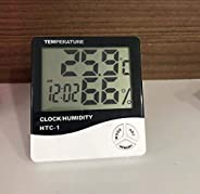 HTC-1 - BFHTC-1Humidity Time Display Meter with Alarm Clock, Wall Mount or Table Top, Multicolour