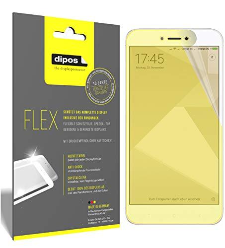 dipos I 3X Schutzfolie 100% passend für Xiaomi Redmi 4X Folie (Vollständige Displayabdeckung) Displayschutzfolie