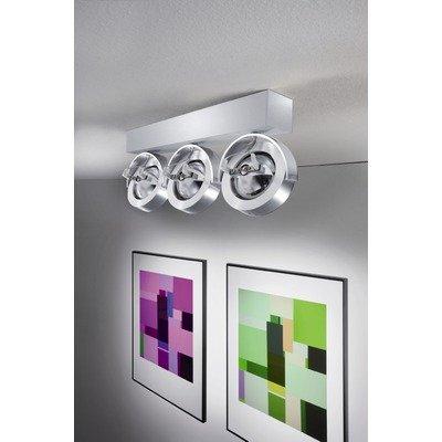 Deckenstrahler 1-flammig Spot Leuchtmittel: Inklusive, Farbe (Gestell): Aluminium matt von Helestra auf Lampenhans.de