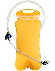 ACRATO Poche à Eau Double Sac d'hydratation Litre Réservoir d'eau Système Hydratation Vessie Pliable pour Camelbak Randonnée Camping Kit de Nettoyage Matériau Non Toxique 3L en TPU