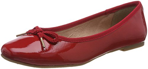 Tamaris Damen 22123 Ballerinas, Rot (Chili Patent), 39 EU