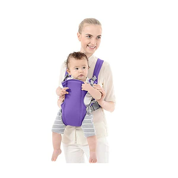 SONARIN 2018 Simple and Lightweight Baby Carrier,Light,Convenient,Breathable,Free Size,Ergonomic,3 Carrying Positions,Safe and Comfortable,Adapted to Your Child's Growing,Ideal Gift(Purple) SONARIN Applicable age and Weight:3-24 months of the baby, the maximum load: 15KG. Recommendations can be based on the growth of the baby's weight to choose the appropriate use method, face-in type: 3 months or more, back type: 6 months or more, face-out type:6 months or more. Material:designers choose comfortable and cool polyester fabric, using 3D breathable mesh, washable, do not fade, no irritation to the baby's skin, to the baby comfortable and safe experience. Description: simple and lightweight design so that the baby carrier is very simple, convenient, light.patented design of the auxiliary spine micro-C structure and leg opening design, natural M-type sitting. Widen the shoulder strap and belt will be effective to disperse the baby's weight to the shoulder and waist, so that mother more effort. 4