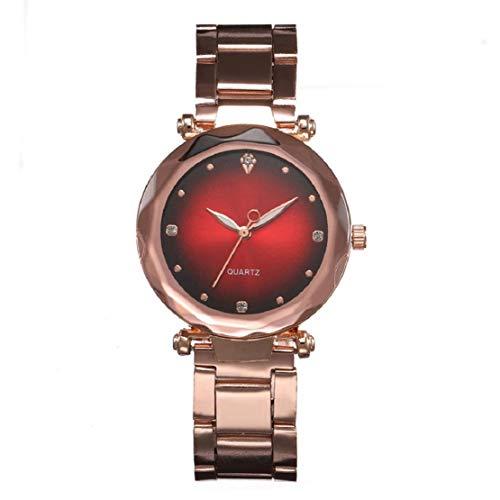 he Damen-Quarzuhr-Temperament-beiläufige Uhr-Frauen-herrliche herrliche Kleidungs-Wilde Haut-Komfort-Armband-Schmucksachen ()