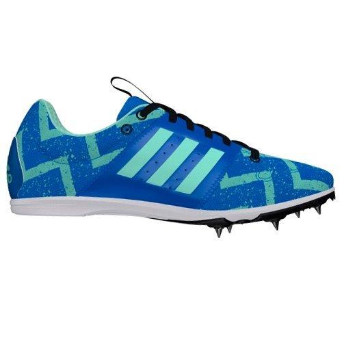 adidas Allroundstar Kids Running Spike Trainer Shoe Blue - UK 1.5